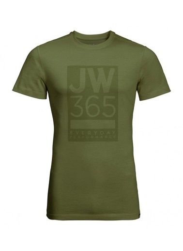 Jack Wolfskin 365 Tee Erkek T-Shirt - 1806621-4521 Yeşil